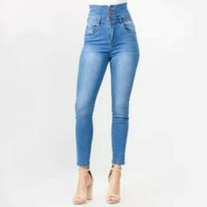 High waist denim skinny